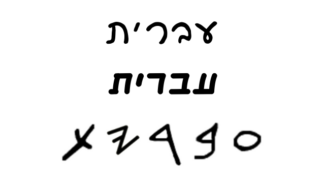 יהדות ומסורת - הכתב העברי המקורי